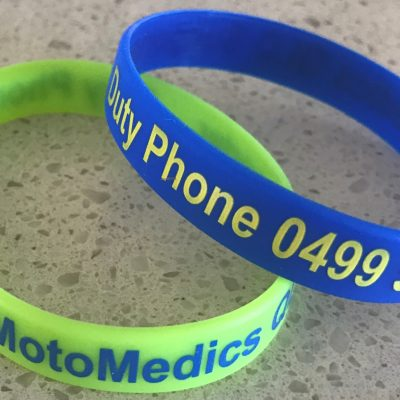 Silicon MotoMedics Supporter Wrist Bands